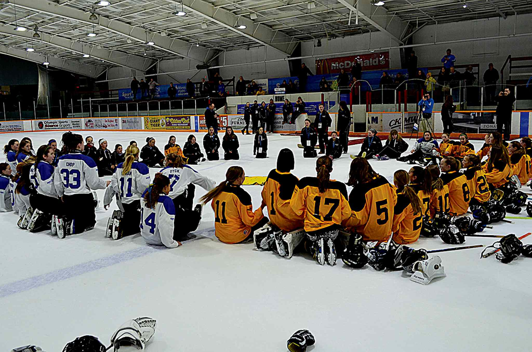 The sight of three teams of ringette players sitting together, laughing and singing as they waited for the medal ceremony at the Manitoba Winter Games was a heartwarming reminder of how sport can bring us together. Supplied photo